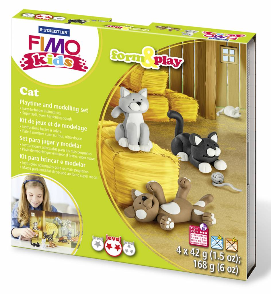Sady Fimo KIDS Staedtler: Kočky - Sada Fimo Kids