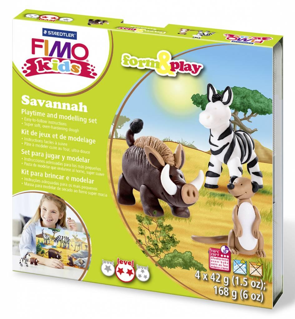 Sady Fimo KIDS Staedtler: Zvířátka Savana - Sada Fimo Kids