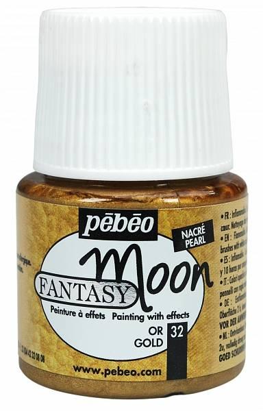 Barvy Pébéo Fantasy Moon: 32 Zlatá (45ml) - Fantasy Moon