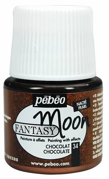 Barvy Pébéo Fantasy Moon: 34 Čokoládová (45ml) - Fantasy Moon