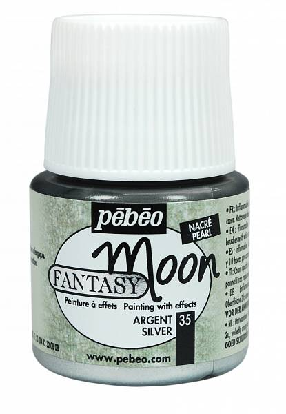 Barvy Pébéo Fantasy Moon: 35 Stříbrná (45ml) - Fantasy Moon