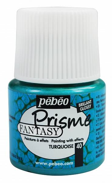 Barvy Pébéo Fantasy Prisme: 40 Tyrkysová (45ml)