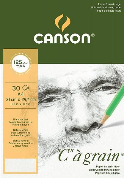 """Canson """"C""""á grain skicák A4 125g"""