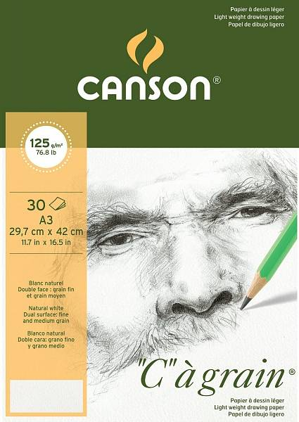 """Canson """"C""""á grain skicák A3 125g"""