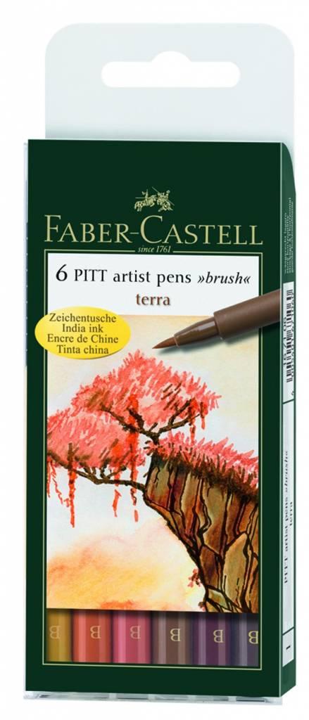 Sada PITT artist pen 6ks: Terra - Sada PITT artist pen 6ks