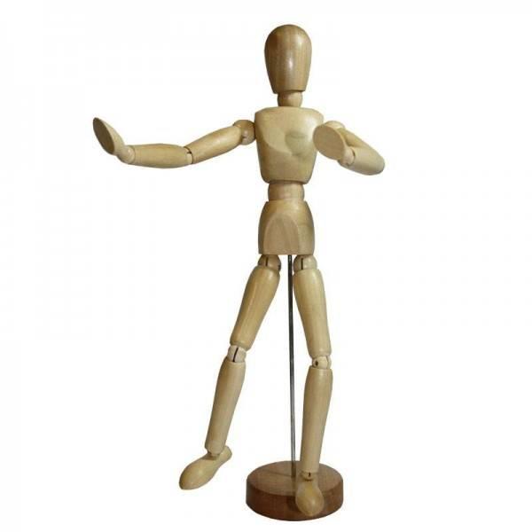L&B Figurína Muž a Žena: Muž - Dřevěná figurína