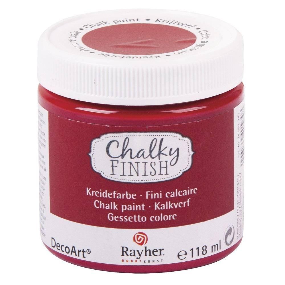 Křídová barva Chalky Finish (118ml) - DOPRODEJ!: 287 Červená - Barva Chalky Finish (118ml)