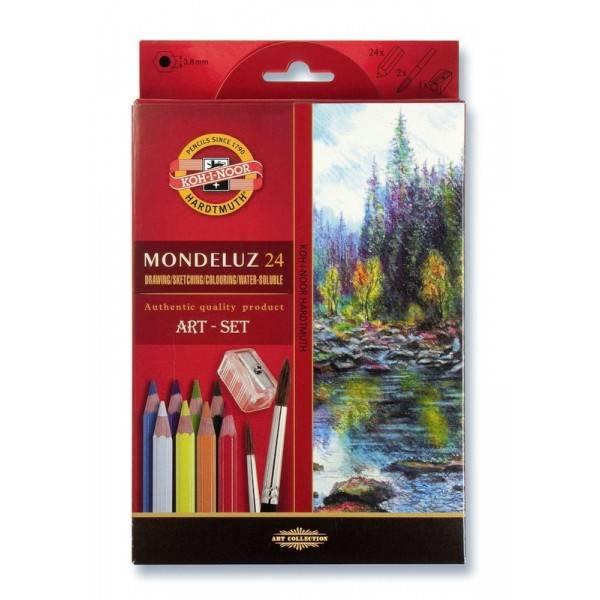 Akvarelové pastelky Mondeluz 24ks
