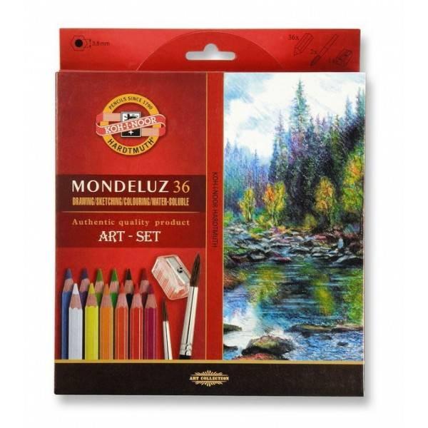Akvarelové pastelky Mondeluz 36ks