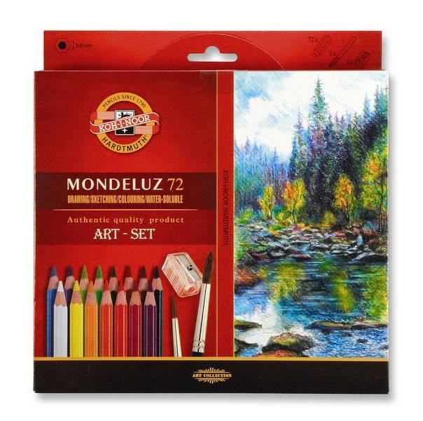 Akvarelové pastelky Mondeluz 72ks