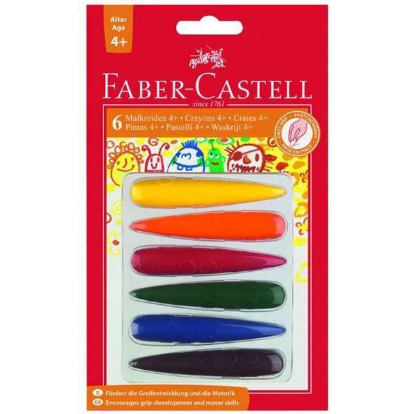 Plastové pastelky do dlaně 6ks