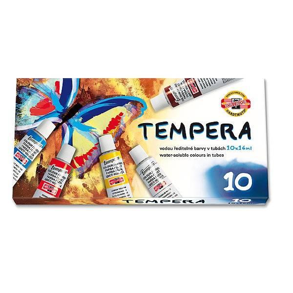 Temperové barvy 10ks