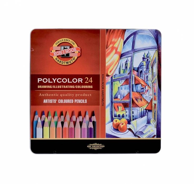 Pastelky Polycolor 24 ks