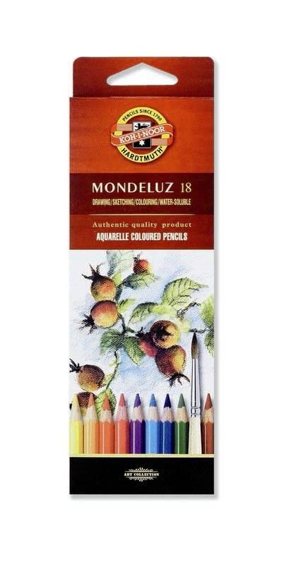 Akvarelové pastelky Mondeluz 18ks