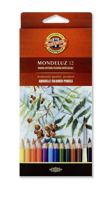Akvarelové pastelky Mondeluz 12ks