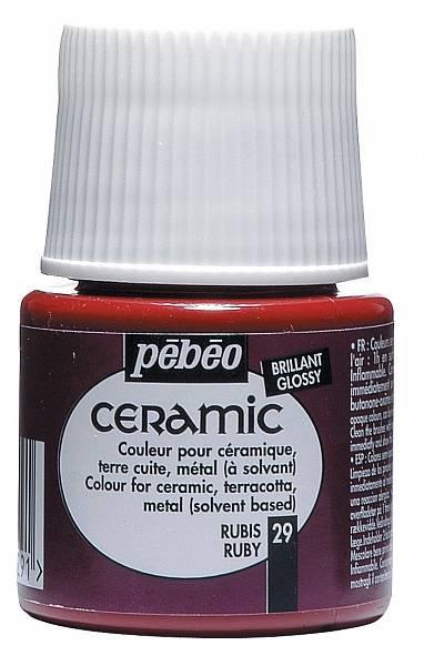 Barvy na keramiku Ceramic Pébéo (45ml): 029 - Ruby (45ml)