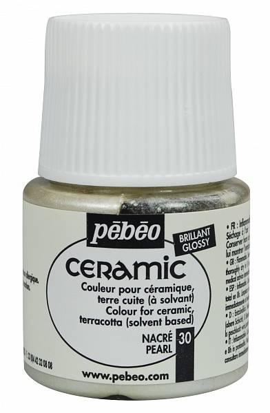 Barvy na keramiku Ceramic Pébéo (45ml): 030 - Perleťová (45ml)