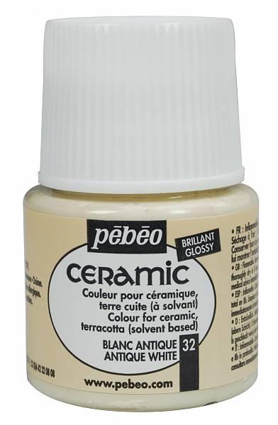 Barvy na keramiku Ceramic Pébéo (45ml): 032 - Antická bílá (45ml)