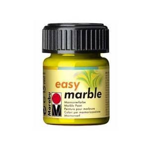 Mramorovací barvy Easy Marble (15ml): 020 Citrónová žlutá (15 ml) Marabu