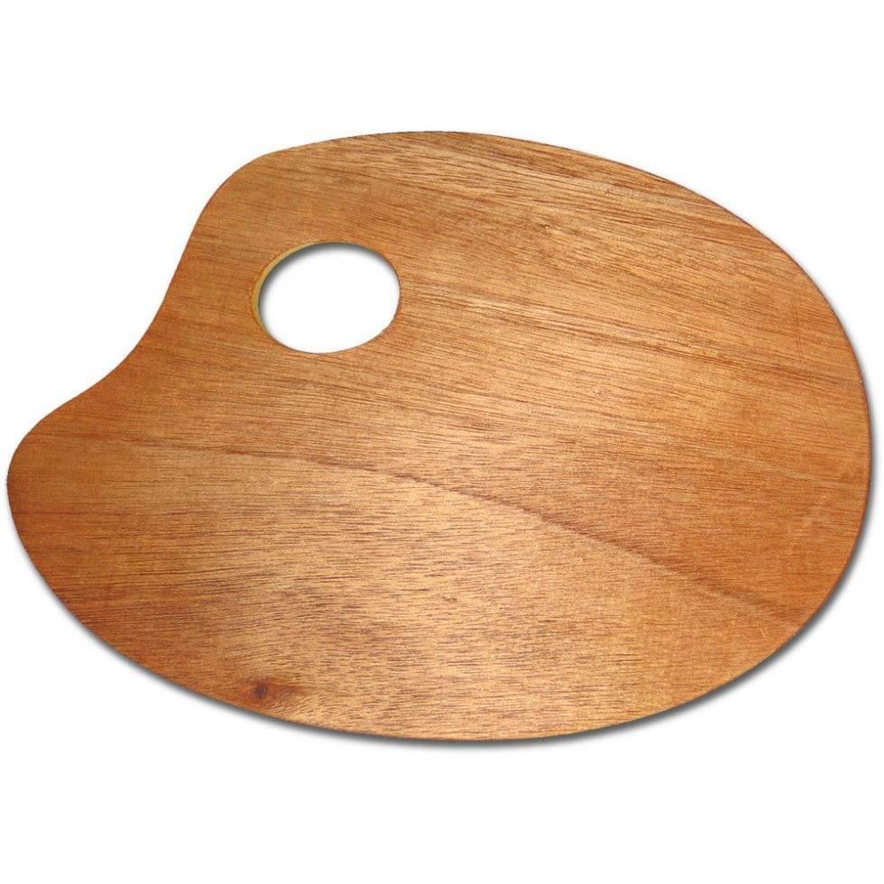 Paleta dřevěná ovál 18x24cm