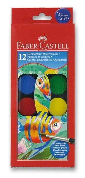Vodové barvy 12 barev + štětec