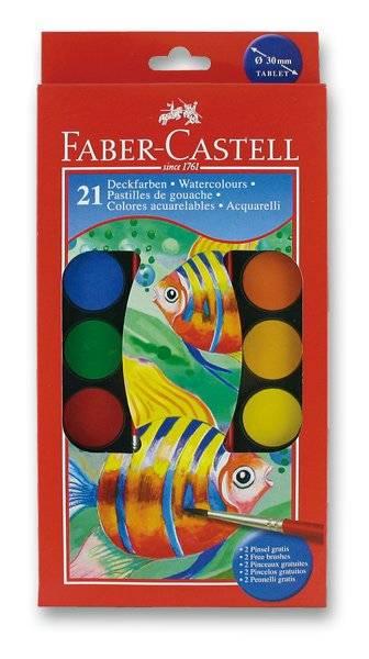 Vodové barvy 21 barev + 2 štětce