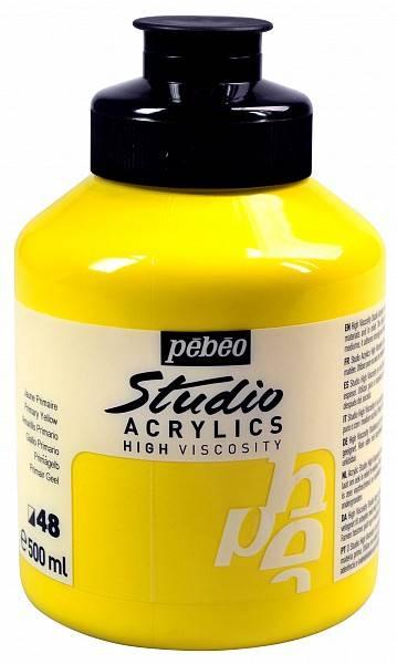 Akrylové barvy Studio Acrylics 500ml: Žlutá 48 - Studio Acrylics 500ml
