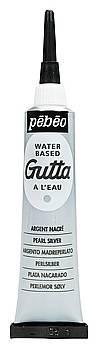 Kontury na hedvábí Gutta: Stříbrná - Kontura Gutta (20ml)