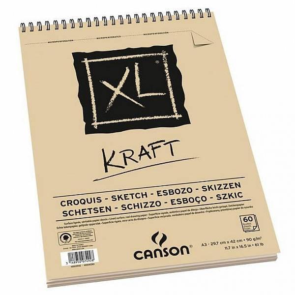 Blok XL Kraft A3 kroužkový