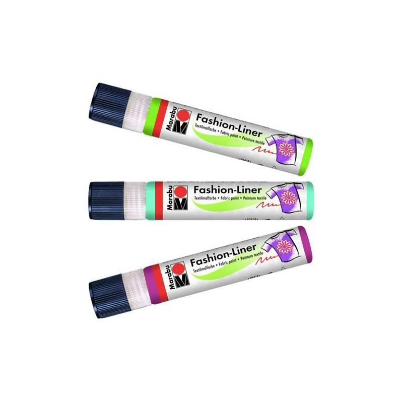 Fashion Linery Marabu : 596 Fialová třpyt - Fashion Liner Marabu 25 ml