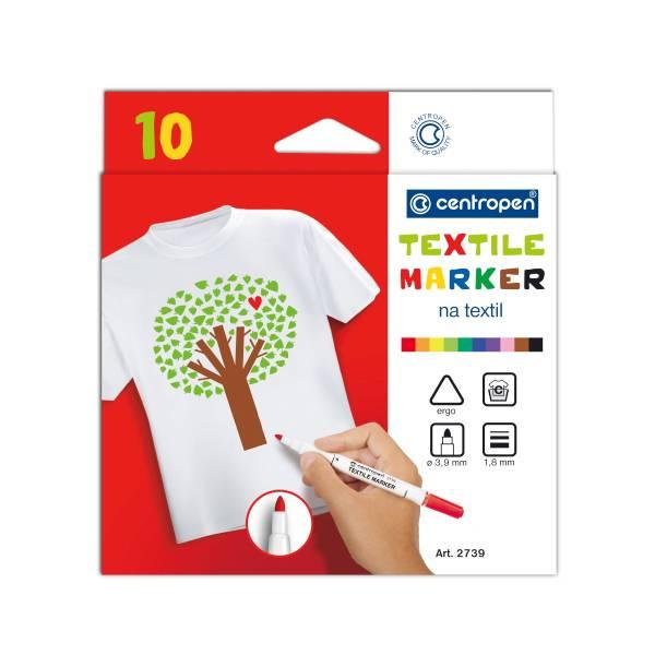 Popisovače na textil 10ks