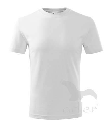 Dětské bavlněné triko bílé: Velikost 122 (6 let) - Dětské bavlněné triko