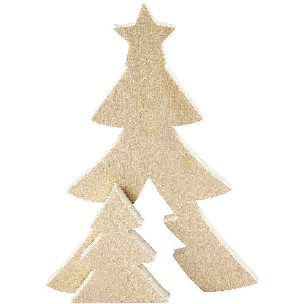 Dřevěný vánoční strom 2v1