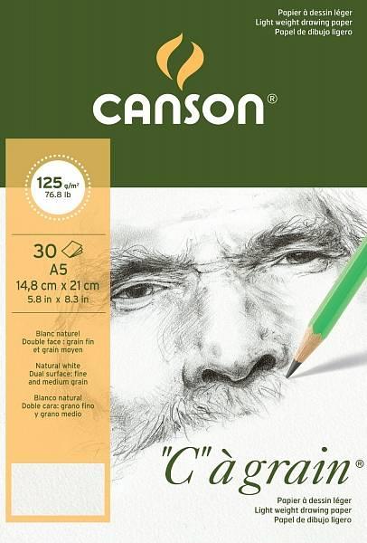 """Canson """"C""""á grain skicák A5 125g"""