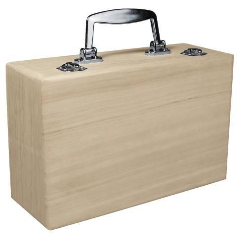 Dřevěný kufřík 25x16x9cm