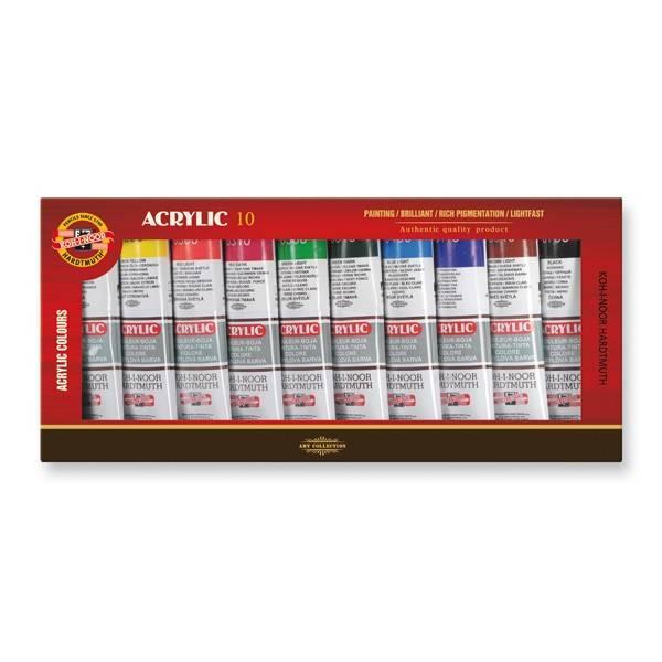 Akrylové barvy - sada 10x40ml
