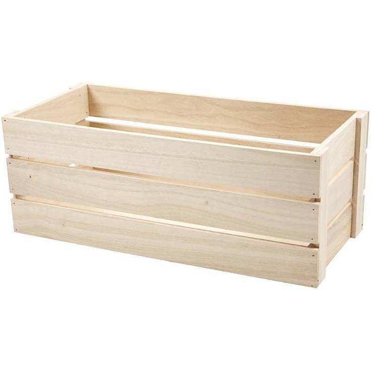 Dřevěný truhlík Apple box 34x15cm