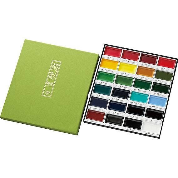 Akvarelové barvy Gansai Tambi - sada 24ks