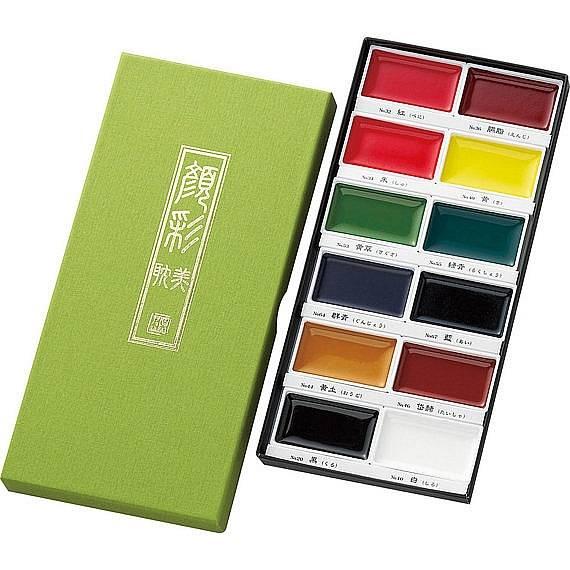 Akvarelové barvy Gansai Tambi - sada 12ks