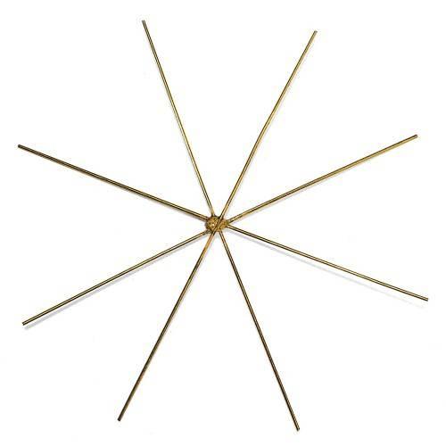Hvězda mosazná pro korálkování 10cm - 4ks