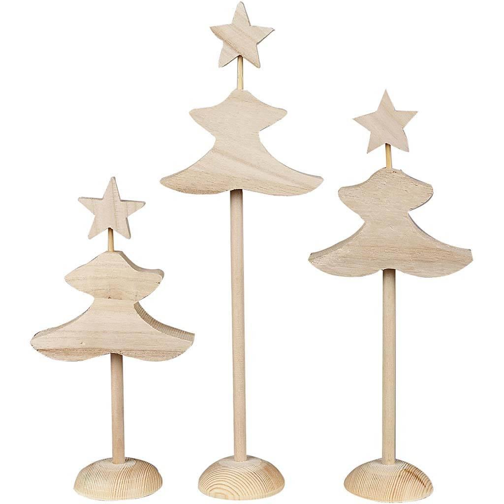 Vánoční stromeček dřevěný 3ks