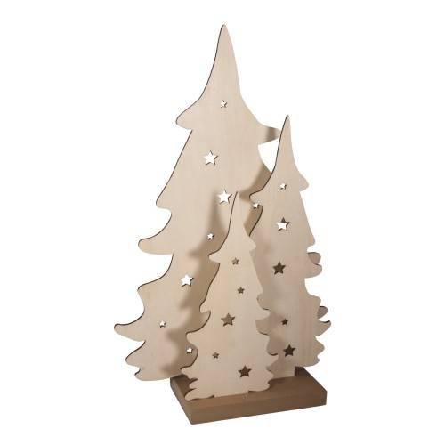 Dřevěné vánoční stromy 3ks