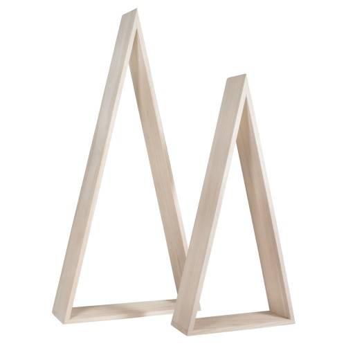 Dřevěný rámeček - trojúhelníky velké 2ks