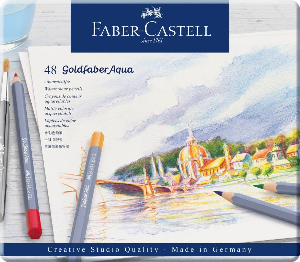 Pastelky Goldfaber Aqua 48ks