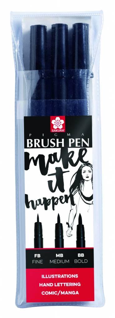 Sada Pigma Brush Pen 3ks