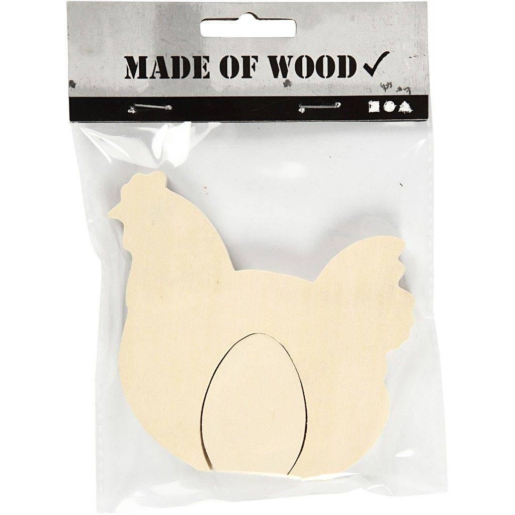 Dřevěná Slepice s vajíčkem