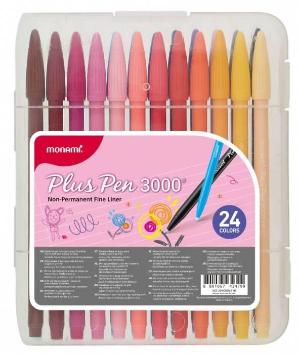 Popisovače Monami Plus Pen 3000 sada 24ks