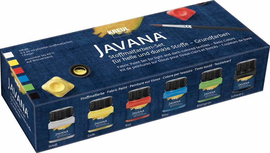 Sada barev na textil Javana 6x20ml Základní