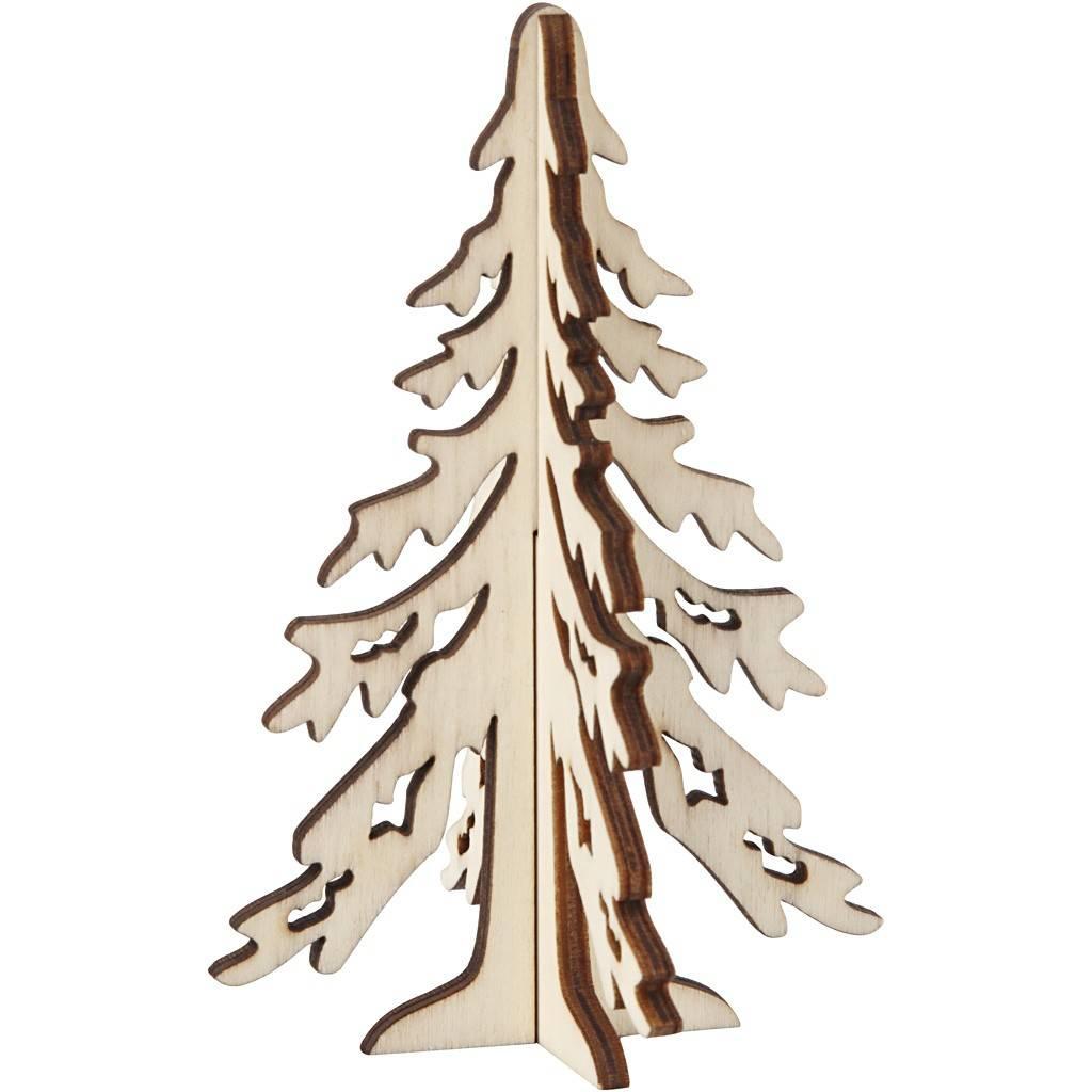 Vánoční strom dřevěný 12,5x8,5cm