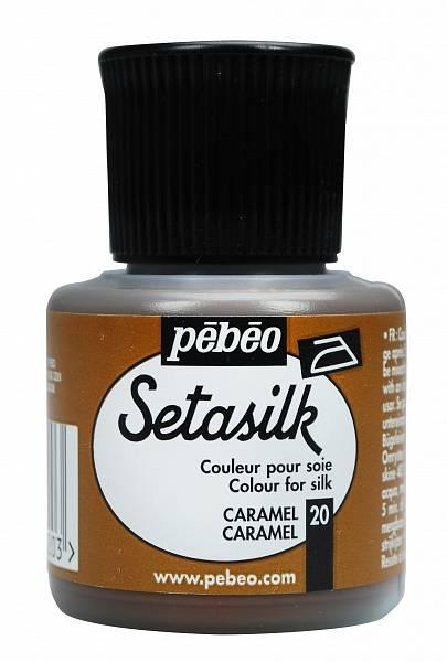 Barvy na hedvábí Pébéo SETASILK (45ml): 020 - Karamelová (45ml)